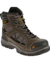 """Caterpillar Men's Compressor Grey 6"""" Waterproof Work Boots - Composite Toe , , hi-res"""