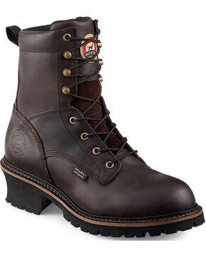 Red Wing Irish Setter Mesabi Logger Work Boots - Steel Toe , Brown, hi-res
