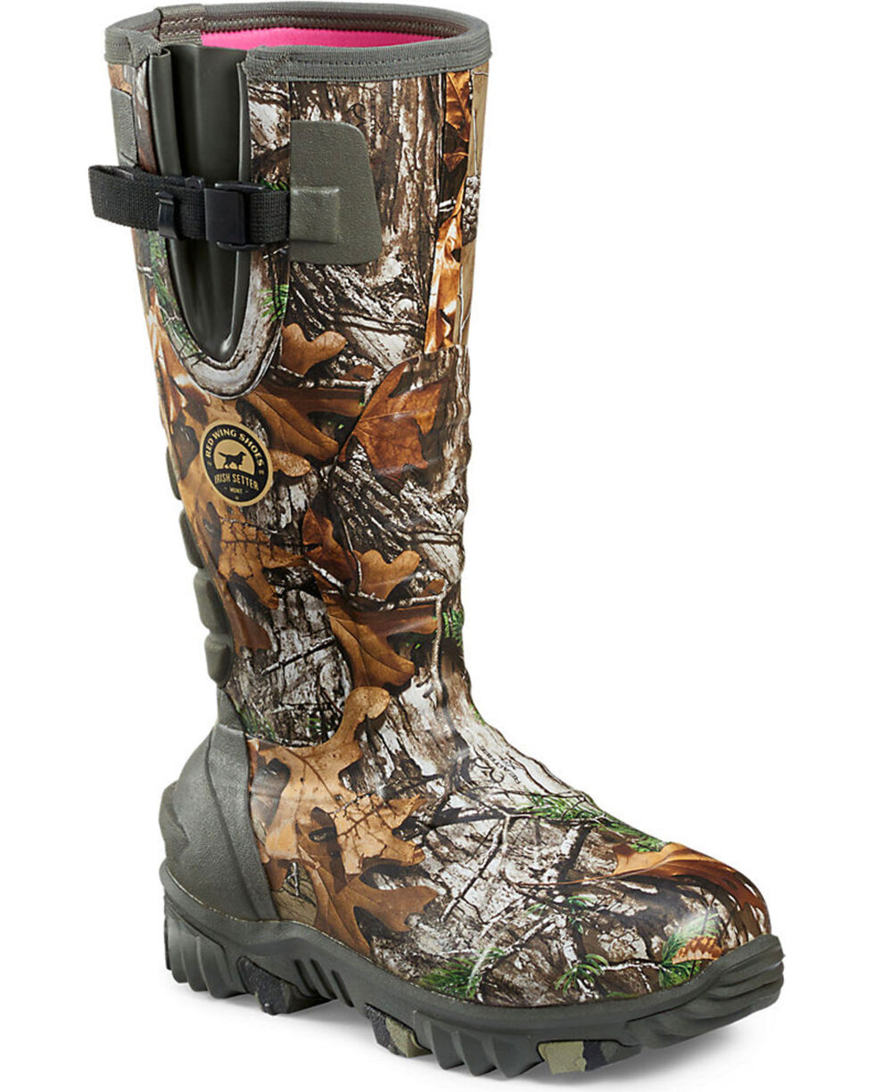 Irish Setter by Red Wing Shoes Women's Rutmaster Realtree Xtra Insulated Rubber Boots - Round Toe, Camouflage, hi-res