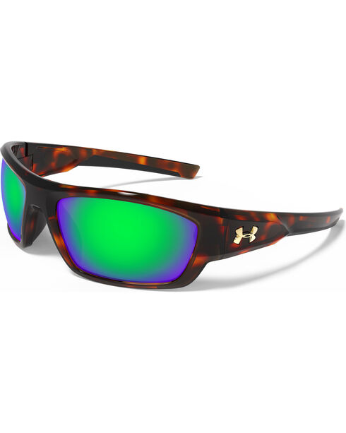 Under Armour Men's UA Storm Polarized Force Multiflection Sunglasses , Brown, hi-res