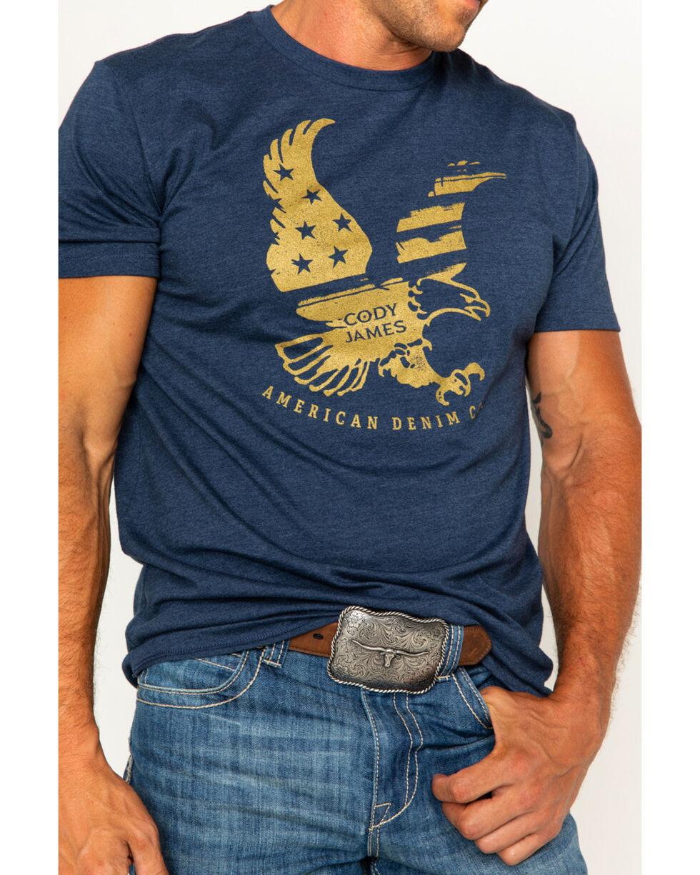 Cody James Men's Eagle Flag Short Sleeve T-Shirt, Navy, hi-res