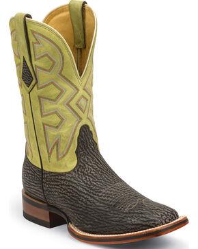 Nocona Men's Let's Rodeo Shark Western Boots, Beige, hi-res