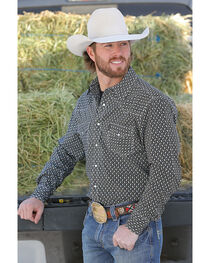 Cinch Men's Modern Fit Printed Plain Weave Western Snap Shirt, , hi-res