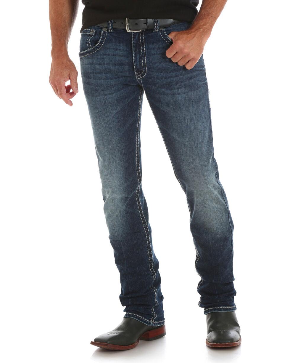 Wrangler Rock 47 Men's Saxophone Slim Jeans - Straight Leg, Indigo, hi-res