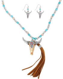 Shyanne® Women's Skull Jewelry Set, Multi, hi-res