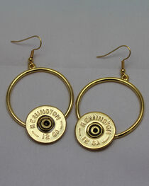 SouthLife Supply Women's Florence Circle Shotshell Dangle Earring in Traditional Gold, , hi-res
