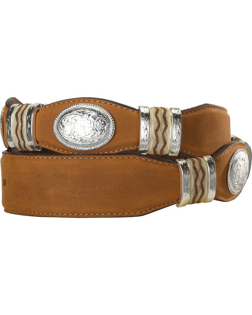 Tony Lama Unisex Cutting Champ Belt, Brown, hi-res