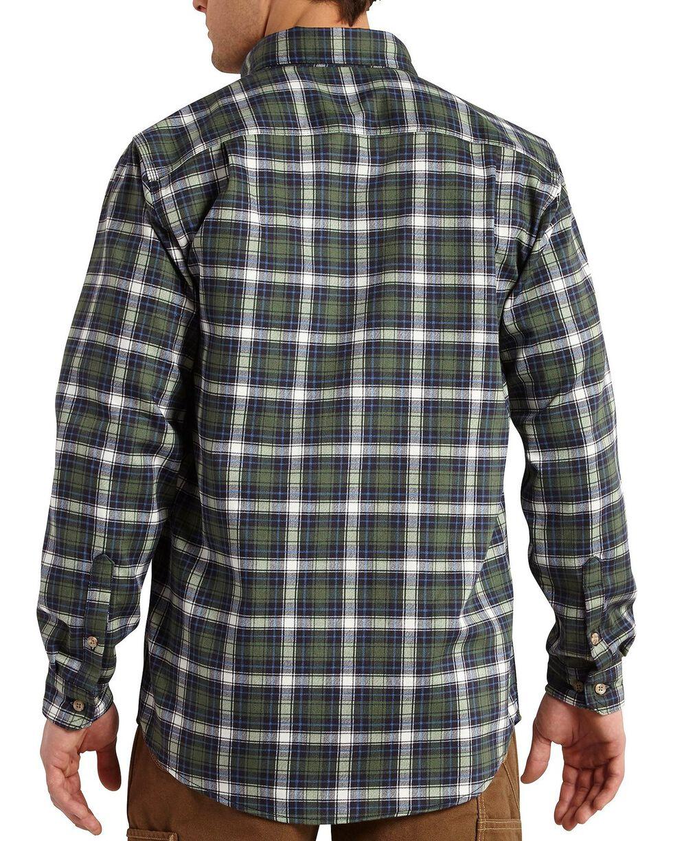 Carhartt Men's Flame Resistant Plaid Long Sleeve Shirt, Moss, hi-res