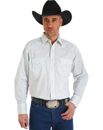 Wrangler Men's White Silver Edition Long Sleeve Shirt , , hi-res