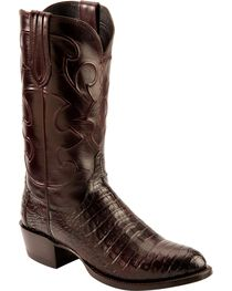 Lucchese Men's Charles Round Toe Crocodile Western Boots, , hi-res