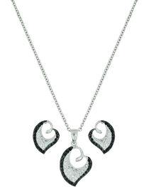 Montana Silversmiths Women's Dancing Hearts Jewelry Set, , hi-res