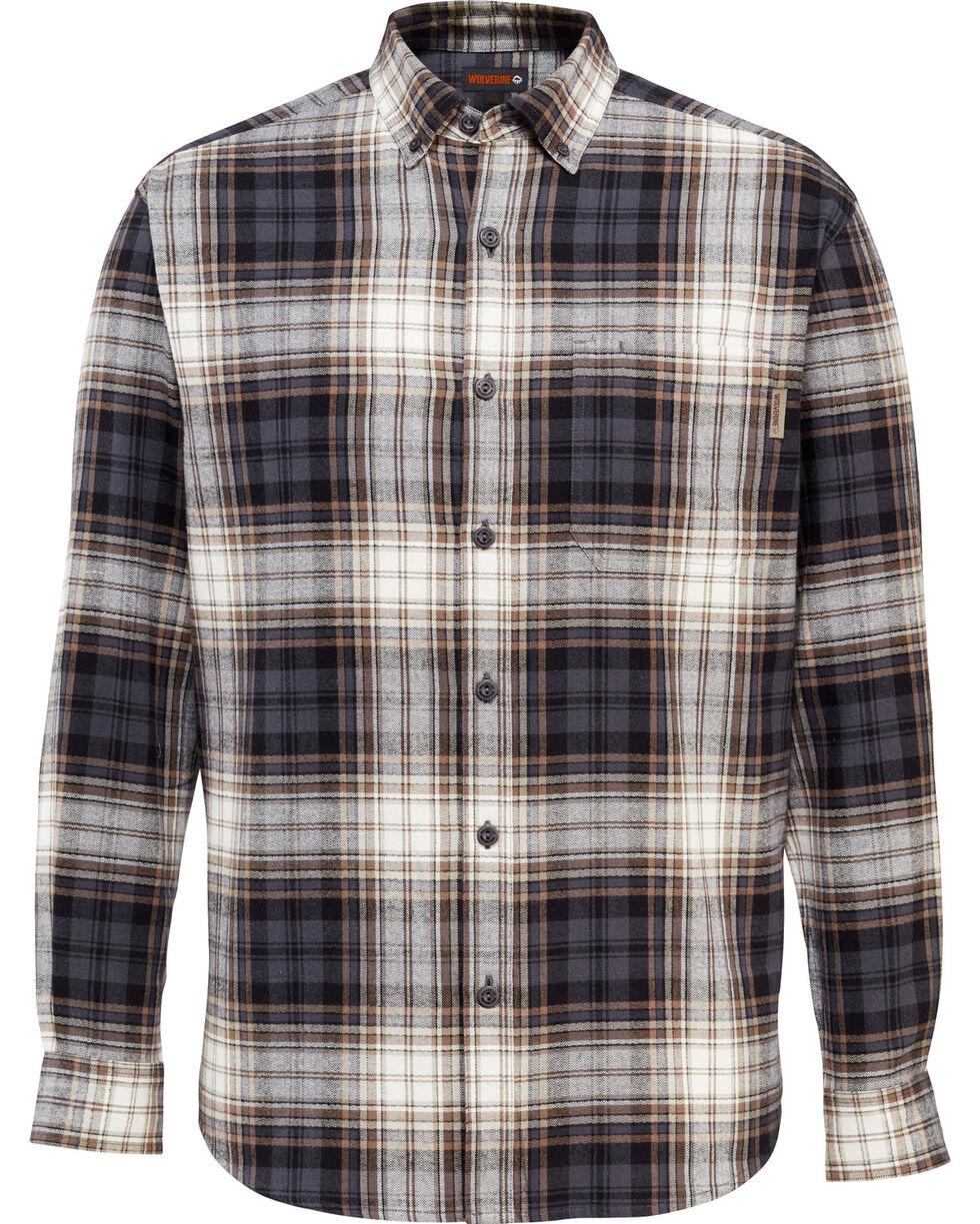 Wolverine Men's Rogan Plaid Flannel Shirt , Grey, hi-res