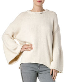 Miss Me Women's Knitted Bell Sleeve Sweater, , hi-res