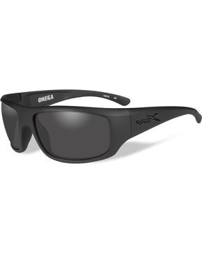 Wiley X Omega Grey Matte Black Sunglasses  , Black, hi-res