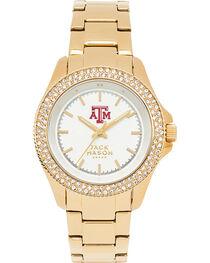 Jack Mason Women's Texas A&M Glitz Sport Bracelet Watch, , hi-res