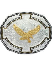 Montana Silversmiths Two Tone Soaring Eagle Bordertown Buckle, , hi-res