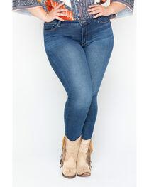 Silver Women's Indigo Faded Bleecker Jeggings - Plus Size, , hi-res
