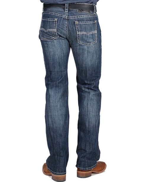 Rock & Roll Cowboy Men's Pistol Straight Leg Jeans, Dark Blue, hi-res