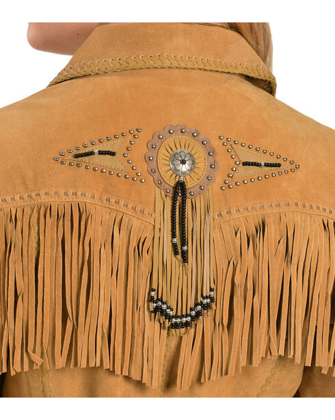 Scully Women's  Suede Leather Fringe Jacket, Rust, hi-res