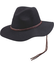 Women's Peter Grimm Golda Floppy Felt Hat, Black, hi-res
