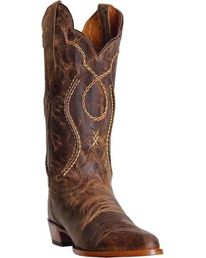 Dan Post Men's Albany Western Boots, Tan, hi-res