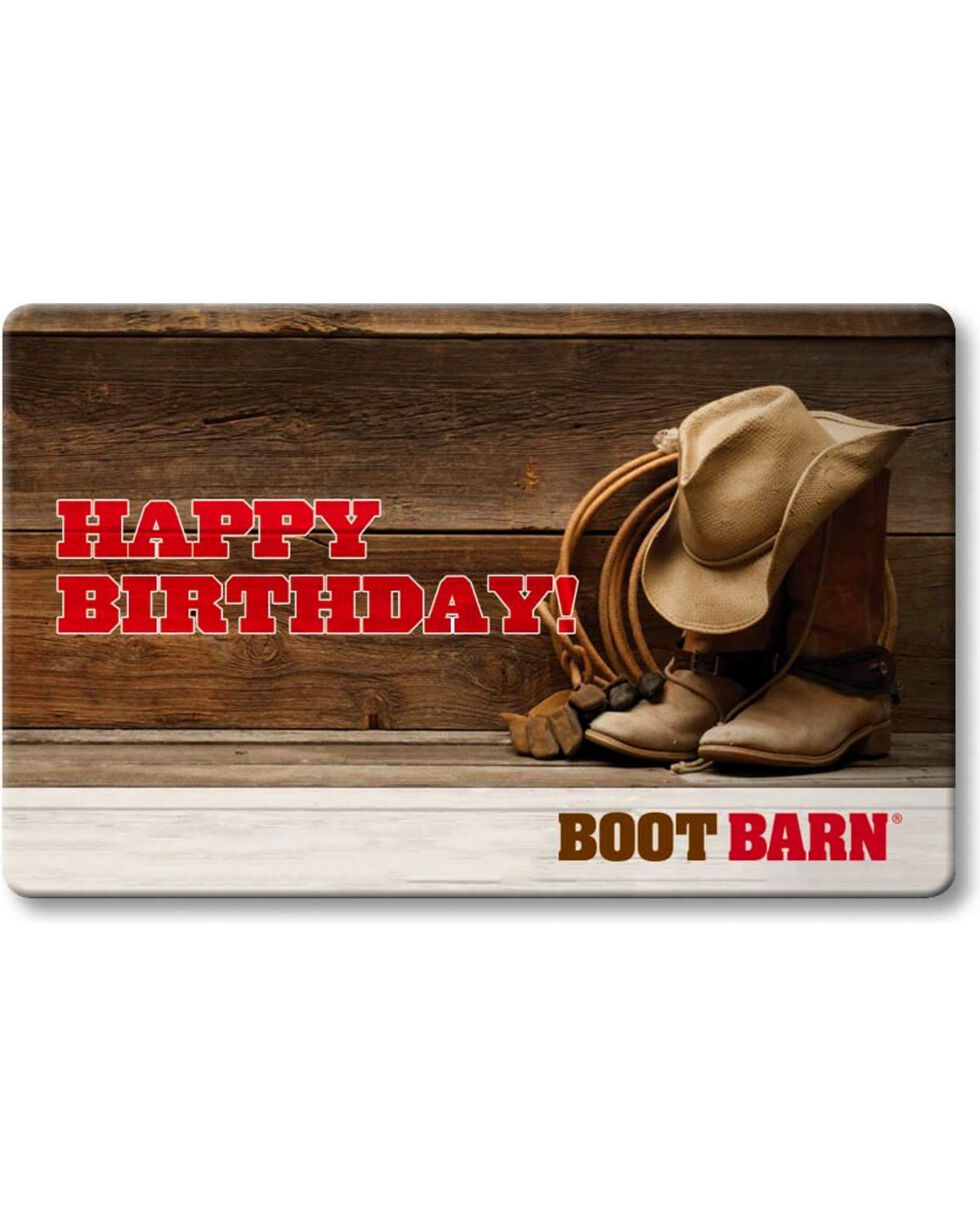 Boot Barn® Happy Birthday Gift Card, No Color, hi-res