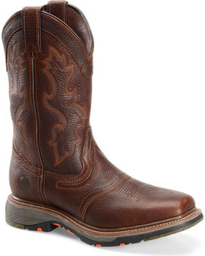 "Double H Men's 12""  Square Toe Workflex Western Work Boots, Brown, hi-res"