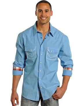 Rock & Roll Cowboy Men's Long Sleeve Western Shirt, Turquoise, hi-res