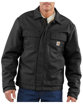 Carhartt Flame-Resistant Lanyard Access Quilt-Lined Jacket, Black, hi-res