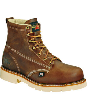 "Thorogood Men's American Heritage Classics 6"" Work Boots, Brown, hi-res"