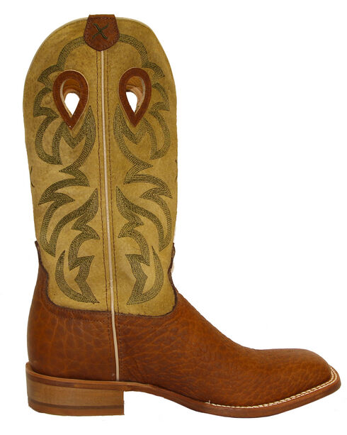 Twisted X Men's Ruff Stock Cowboy Boots - Square Toe, Dark Brown, hi-res