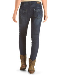 Shyanne Women's Mid-Rise Aztec Embroidered Jeans  - Skinny, , hi-res