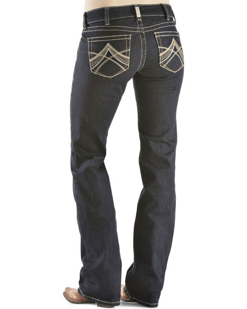 Ariat Women's Mid-Rise Boot Cut Riding Jeans, Denim, hi-res