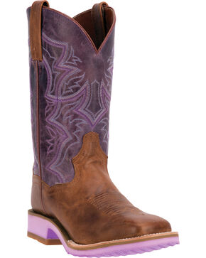 Dan Post Women's Serrano Pro Western Boots, Tan, hi-res