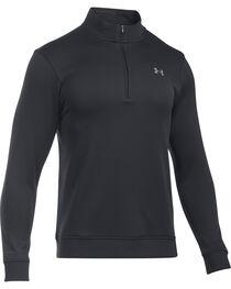 Under Armour Men's Black Storm Sweater Fleece 1/4 Zip Pullover , , hi-res