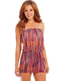 Cowgirl Up Multicolored Romper, , hi-res