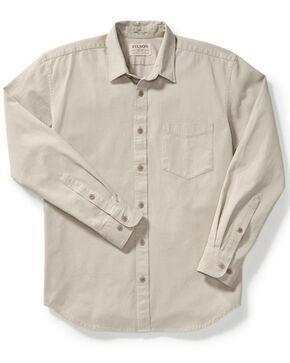 Filson Men's Gray 6.5 oz. Chino Shirt , Light Grey, hi-res
