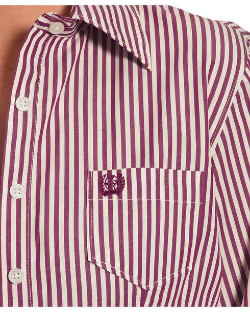 Cinch Women's Stripe Long Sleeve Shirt , Purple, hi-res