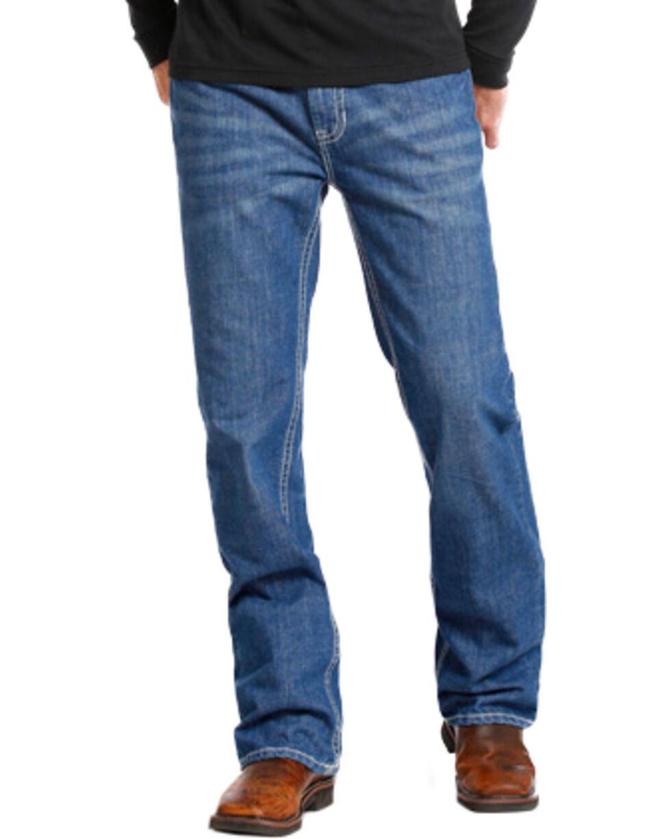 Rock & Roll Cowboy Men's Double Barrel Flame Resistant Boot Cut Jeans, Indigo, hi-res