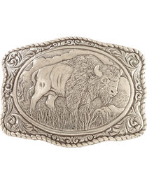 Crumrine Vintage Men's Buffalo Belt Buckle, , hi-res