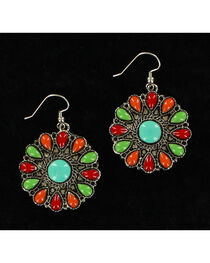 Blazin Roxx Round Multi-Colored Earrings, , hi-res