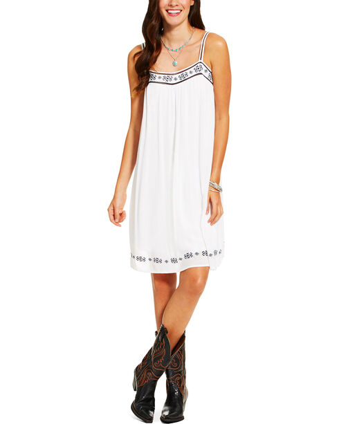 Ariat Women's Brandy Tank Dress, White, hi-res