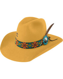 Charlie 1 Horse Women's Yellow Gold Digger 5X Cowgirl hat , , hi-res