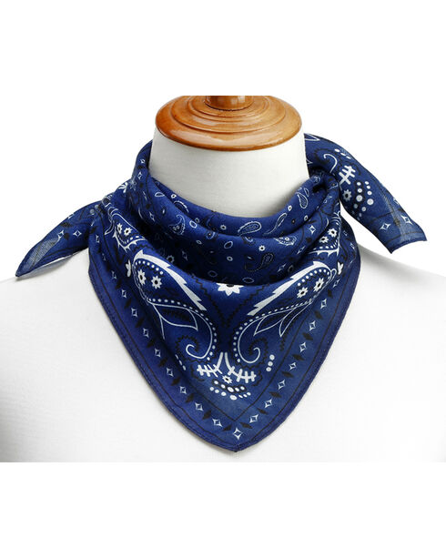 Big Sky Carvers Women's Bandana Print Scarf , Blue, hi-res