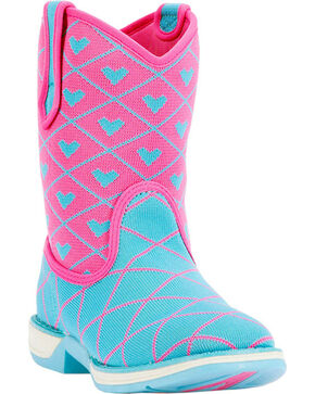 Laredo Kids' Frolic Performair Western Boots, Blue, hi-res