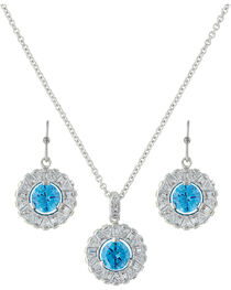Montana Silversmiths Women's Hot Summer Days Halo Jewelry Set , , hi-res