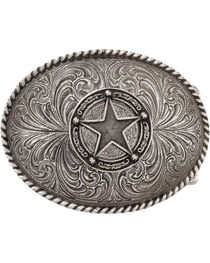 Montana Silversmiths Men's Star Concho Attitude Belt Buckle, , hi-res