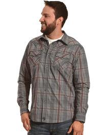 Moonshine Spirit Men's Fire Trap Plaid Long Sleeve Western Shirt, , hi-res