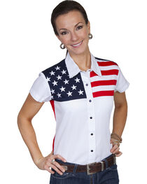 Scully Women's American Flag Print Top, , hi-res