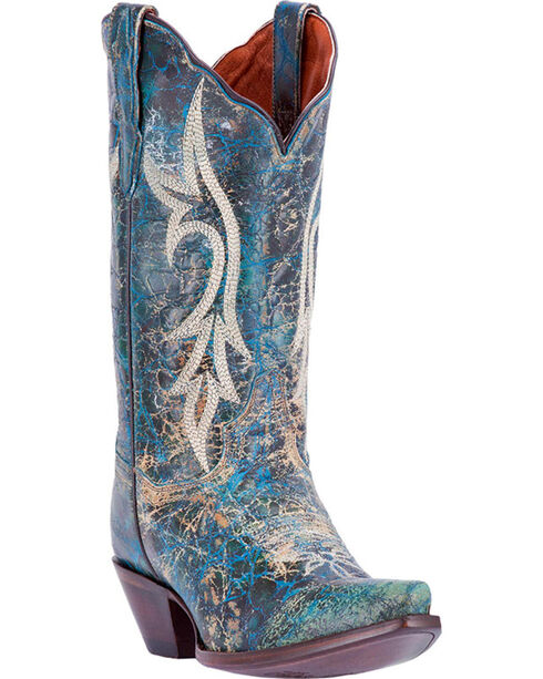 Dan Post Women's Knockout Western Boots, Dark Blue, hi-res